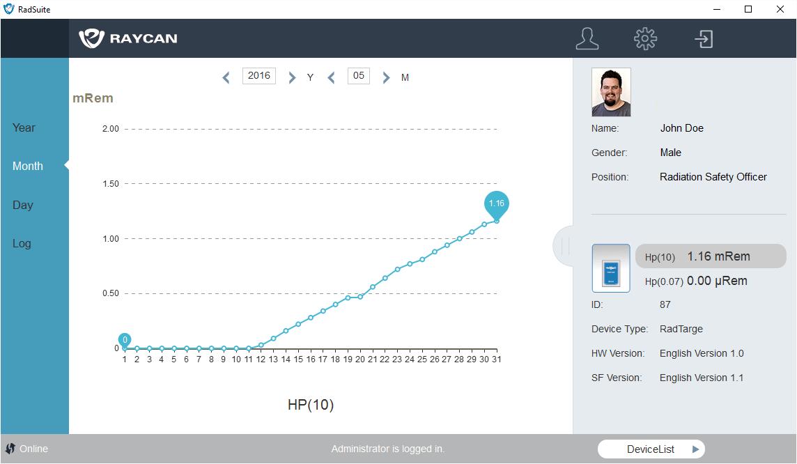 RadSuite-Dose screenshot